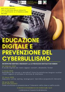 Locandina educazione digitale e prevenzione Cyberbullismo